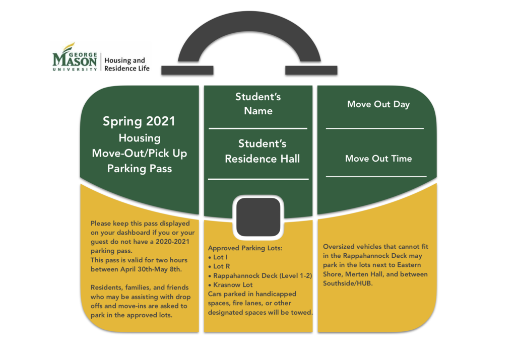 Spring 2021 Move Out Parking Pass